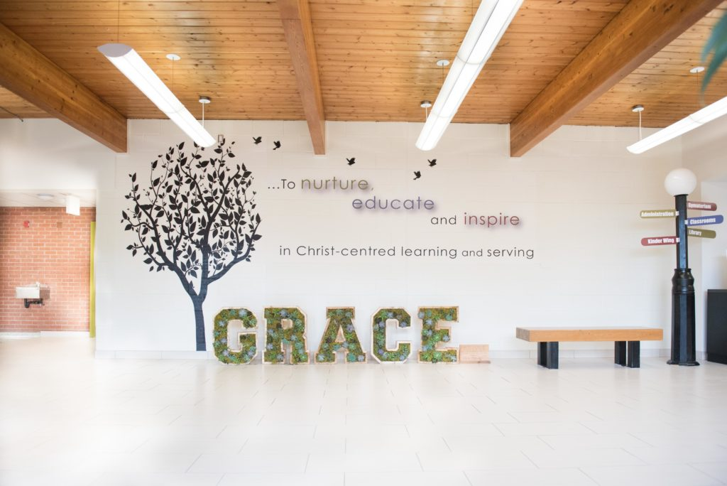 The foyer at Guelph Community Christian School