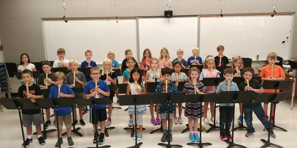 Grade 3 playing recorders
